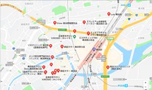 横浜駅脱毛サロンマップイメージ