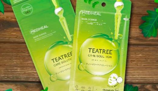 メディヒールパックのティーツリー(緑)はニキビに効果的!日本製品の成分や使い方、口コミなどまとめました!